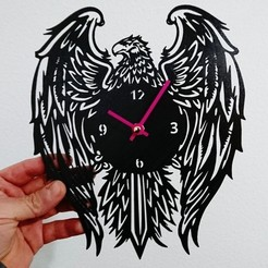 Download free STL file Reloj aguila, 3dlito