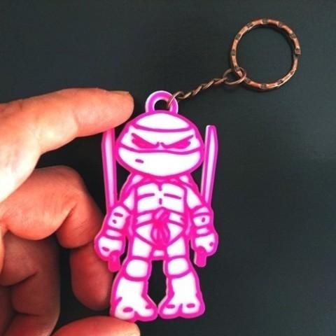 Free stl Ninja Turtle Key Ring, 3dlito