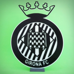 Free 3d printer model GIRONA FC shield, 3dlito