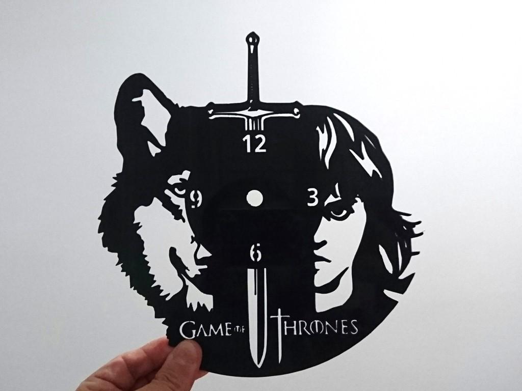 5fba196c24041e108a931133b0260962_display_large.jpg Télécharger fichier STL gratuit Reloj juego de tronos • Design pour impression 3D, 3dlito