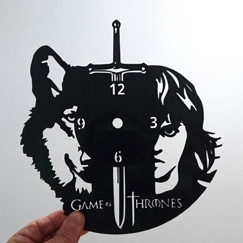 Download free 3D printer files Reloj juego de tronos, 3dlito
