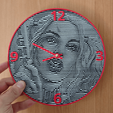 3D printer files Harley Quinn wall clock, 3dlito