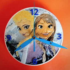 Free 3d printer designs FROZEN 3D Clock, 3dlito