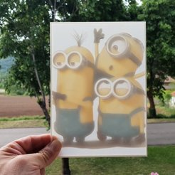 Download free 3D printer files Litofania Minions, 3dlito