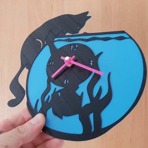 14ff44d5f03652310e8810266286e1fa_display_large.jpg Download free STL file reloj pecera gato • 3D print object, 3dlito