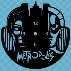 Download free 3D printing files Metropolis Clock, 3dlito