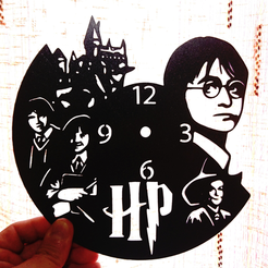 Descargar modelo 3D Reloj Harry Potter, 3dlito