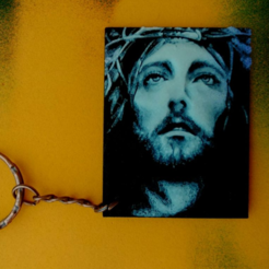 Download free STL files Jesus Christ Keychain, 3dlito