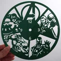Download 3D printer designs AVENGERS Clock, 3dlito