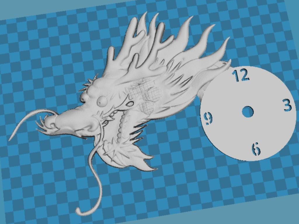 890c71c4fa37ecb42a90937c01d5a800_display_large.jpg Télécharger fichier STL gratuit Reloj Dragon en relieve • Design imprimable en 3D, 3dlito