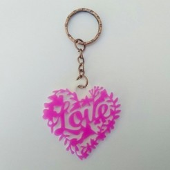 Download free 3D printing designs Love key ring, 3dlito