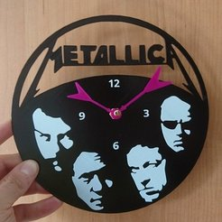 Download free 3D printer model Reloj MetallicA, 3dlito