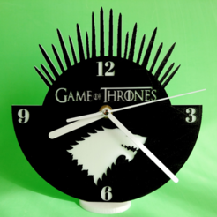 Free 3D print files Clock Game of Thrones, 3dlito