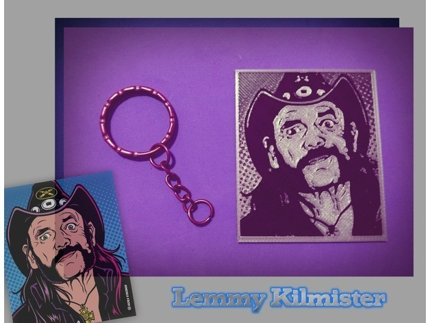 c018dec9c147b9f31bbb88125c44d319_preview_featured.jpg Download free STL file Lemmy Kilmister 3D Keychain • 3D printer template, 3dlito