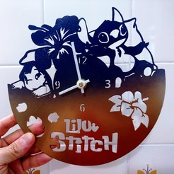 Descargar modelos 3D Clock Lilo & Stitch + Stitch cookie cutter, 3dlito