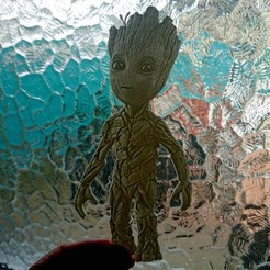 Download free 3D printer designs Baby Groot lithophane, 3dlito
