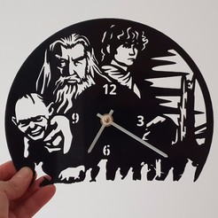 Download free STL files El Hobbit Clock, 3dlito