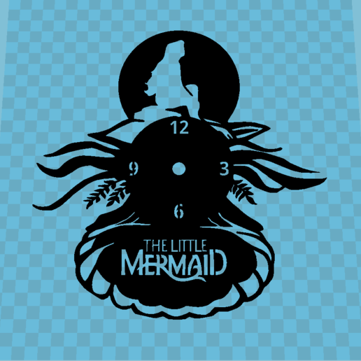 Download free 3D printing files THE MERMAID'S CLOCK, 3dlito