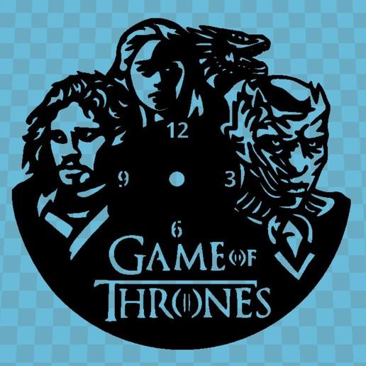 Imprimir en 3D Reloj Game Of Thrones, 3dlito