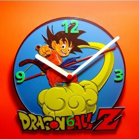 Download free 3D printing templates Reloj Dragon Ball Z, 3dlito