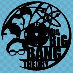 THE BIG BANG THEORY.jpg Download free STL file CLOCK THE BIG BANG THEORY • 3D printing model, 3dlito
