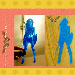 Free stl file Lithophane wonder woman, 3dlito