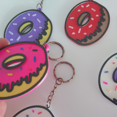Diseños 3D keychain donuts, 3dlito