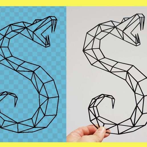Télécharger fichier STL gratuit serpent géométrique • Design imprimable en 3D, 3dlito