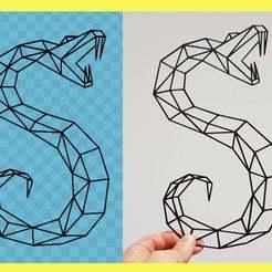 Télécharger STL gratuit serpent géométrique, 3dlito