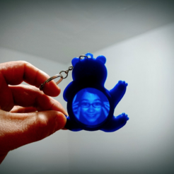 Download free STL Customizable teddy bear key ring tutorial, 3dlito