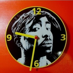 Download free 3D printer templates Tupac Clock, 3dlito
