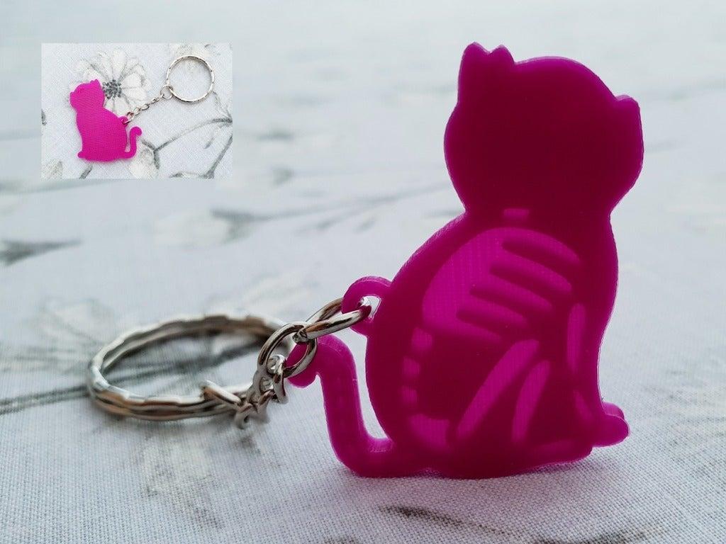 b1ee33820c58a06bd8765716e1fb2888_display_large.jpg Download free STL file Cat skeleton keychain lithophane • 3D printing object, 3dlito