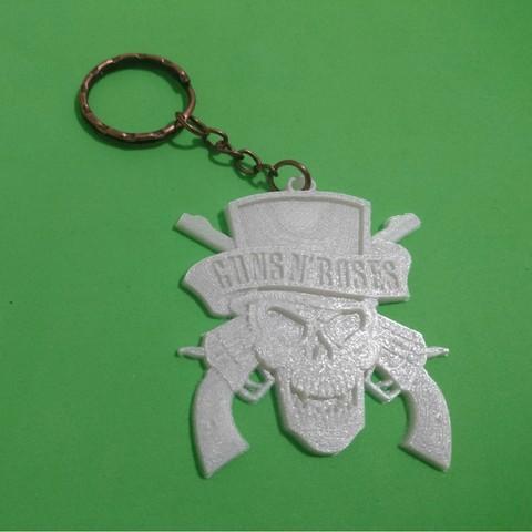 key2.jpg Download free STL file Guns N 'Roses Keychain • 3D printing model, 3dlito