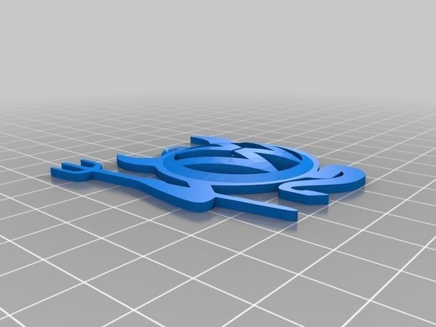 d50594465446fc9bfcc4254cb0375f65_preview_featured.jpg Télécharger fichier STL gratuit Porte-clés Volkswagen • Design imprimable en 3D, 3dlito