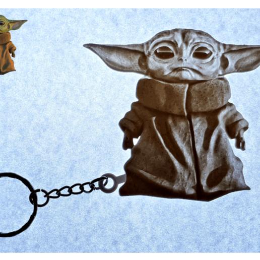 baby3.png Télécharger fichier STL Llavero Baby Yoda • Modèle pour impression 3D, 3dlito
