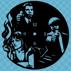 pulp fiction.jpg Télécharger fichier STL RELOJ PULP FICTION • Plan pour imprimante 3D, 3dlito