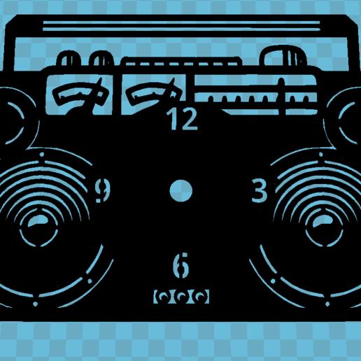 thingi.PNG Télécharger fichier STL gratuit Reloj RADIO CASSETTE • Design à imprimer en 3D, 3dlito