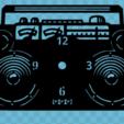 Download free STL files Reloj RADIO CASSETTE, 3dlito