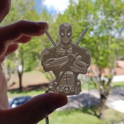 Download free 3D printer files Deadpool keychain, 3dlito