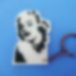 Download free STL file Keychain Marilyn Monroe stencil • 3D printable object, 3dlito