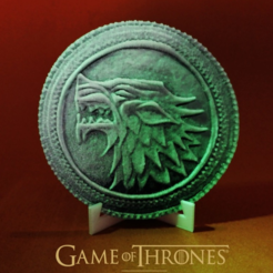 diseños 3d gratis Game Of Thrones coin, 3dlito