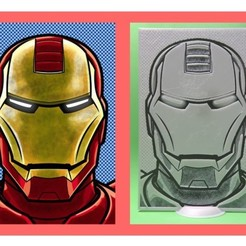 Free 3D printer designs IRONMAN 3D DRAWING, 3dlito
