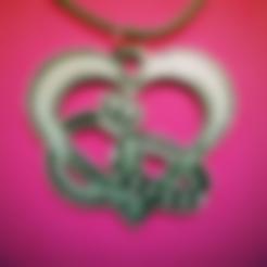 Free heart pendant X rings STL file, 3dlito