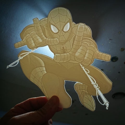 Télécharger fichier STL gratuit SPIDERMAN lithophanie, 3dlito