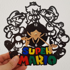stl files Super Mario Clock, 3dlito