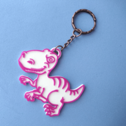 Download free STL Dino key ring, 3dlito