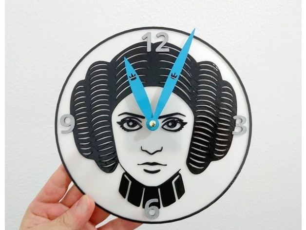 e0304f42e1db742c383277350b510226_preview_featured.jpg Download free STL file Leia Organa Clock • 3D print object, 3dlito