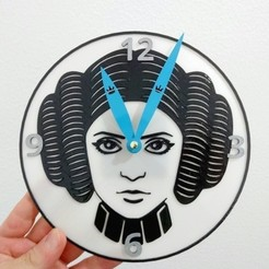 Free 3d printer designs Leia Organa Clock, 3dlito