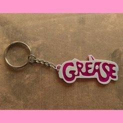 Download free STL file Grease keychain, 3dlito