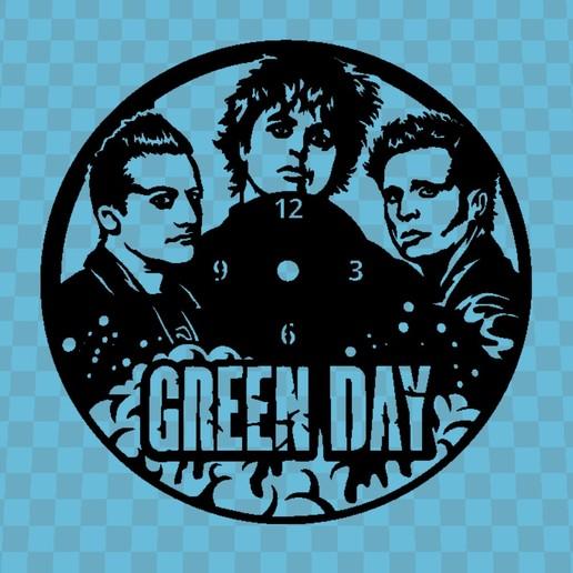 Descargar STL gratis RELOJ GREEN DAY, 3dlito